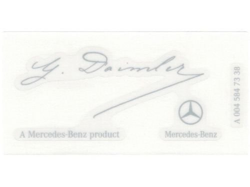 Signature Decal - Mercedes Benz Genuine OEM G Daimler Signed Windshield Sticker Signature Decal Clear Label