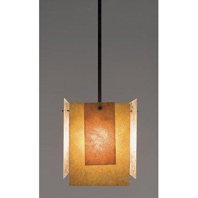 Spider Mica Triple Incandescent Pendant Lamp (44 in. OA Drop in Bronze) from WPT Designs