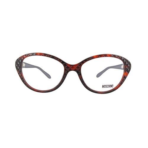 MOSCHINO Women's Eyeglasses 53 Tortoise ()