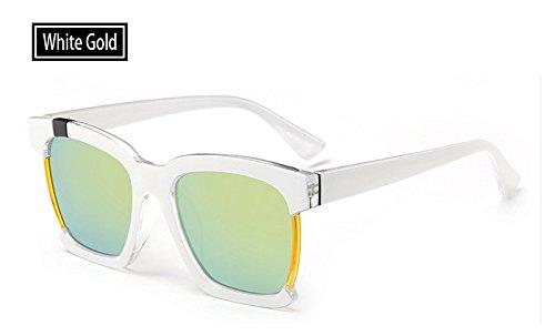 Femme Eye white Lunettes pour Femmes Guide Les Lunettes Vintage Fashion Soleil Cat de gold Sunglasses TL Label AwqYFU