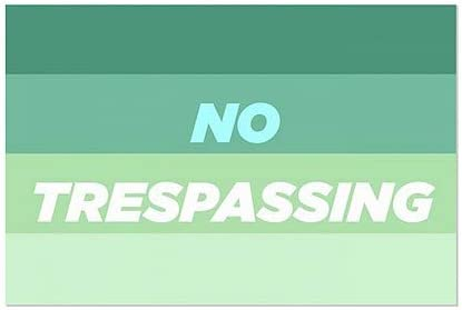 30x20 No Trespassing CGSignLab 5-Pack Modern Gradient Clear Window Cling