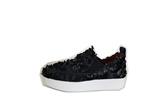 Mujer Zapatillas Negro Cuero Alexander De Smith Para x0cwc7Pa