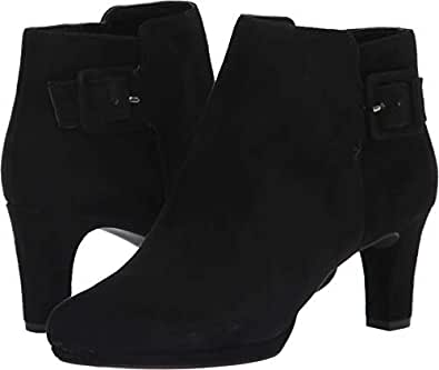 Rockport Women's Total Motion Leah Bootie Black Kid Suede 8 M US M (B)