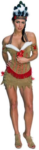 [Native American Princess - Playboy - Small] (Red Indian Princess Costume)