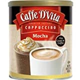 Caffe D'Vita Mocha Cappuccino, 16-Ounce Canisters (Pack of 6) For Sale