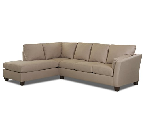 Klaussner E16 Drew Sectional Right Sofa/ Left Chaise, Khaki