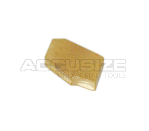 0/° Lead Angle Carbide Inserts TiN Coated 10 Pcs//Box 2403-2003x10 0.087 Width AccusizeTools GTN-2