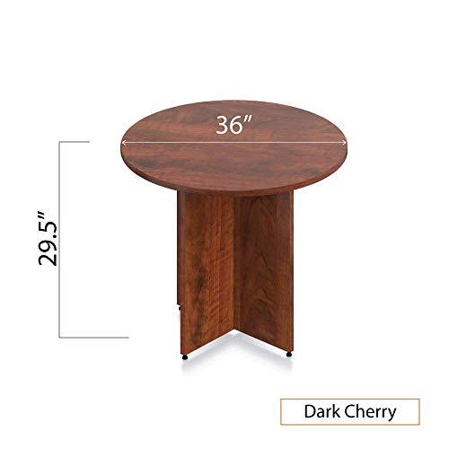 GOF 36'' Round Table (36W x 36D x 29.5H), Cherry, Espresso, Mahogany, Walnut (Dark Cherry 3-Piece Table Set) by GOF (Image #3)
