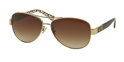 COACH Sunglasses HC 7047 920213 Gold Dark Tortoise - Mens Sunglasses Coach
