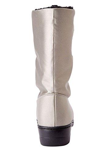 Comfortview Kvinnor Plus Storlek Snowflake Vattenavvisande Stövlar Svart Patent