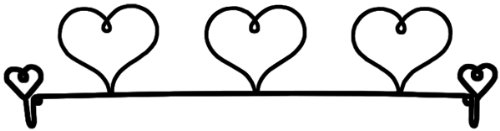 - Ackfeld 22-Inch Dowel Fabric Holder, 3 Hearts