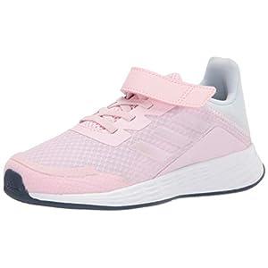 adidas Duramo SL Running Shoe, Pink/Iridescent/Halo Blu, 13 US Unisex Little Kid
