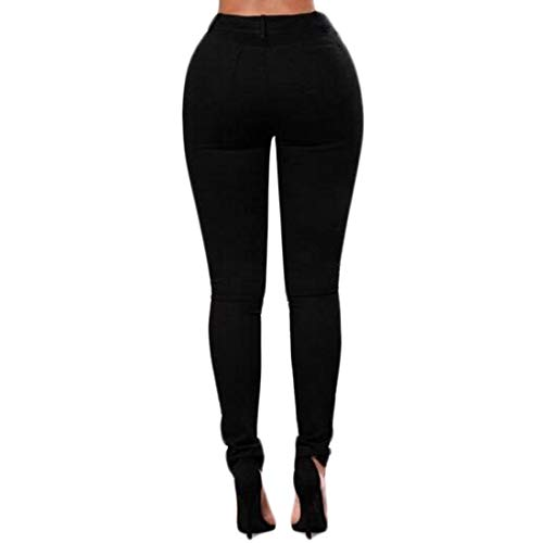Haute Mode Jeans Aiweijia rtro Denim Pantalon en serr Taille Noira1 Femmes dtresse Classique Poche Skinny dchir brod ErERSfqW