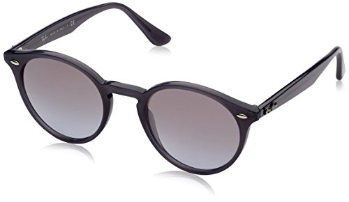 Ray-Ban INJECTED MAN SUNGLASS - OPAL GREY Frame VIOLET GRAD BROWN MIRROR SILVE Lenses 49mm - Mens Round Ban Ray