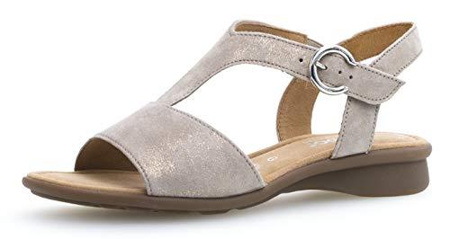 Correa cómodo De sandalia 26 Mujer Con 062 con Metallic Gabor zapatos Verano Tiras ZP0xHwTwq