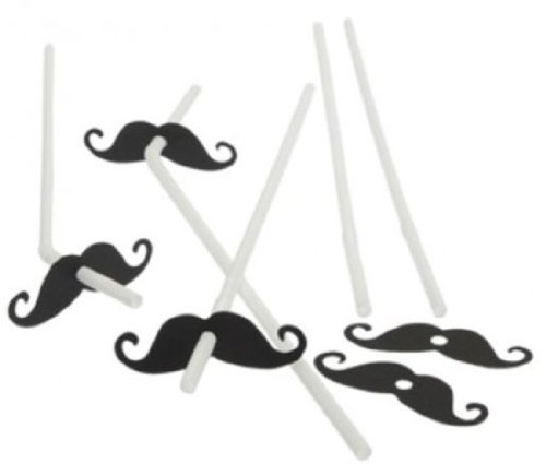 Fun Express Mustache Party Straws - 72 Piece Bulk Pack]()