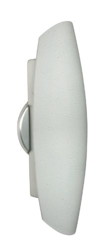 Besa Lighting 272871-AL 2728 Series White Raindrop Brushed Aluminum - 2728 Series