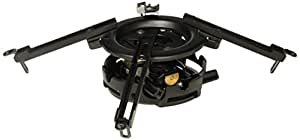 Peerless PRG-UNV Precision Projector Mount with Spider Universal Adaptor Plate - Black