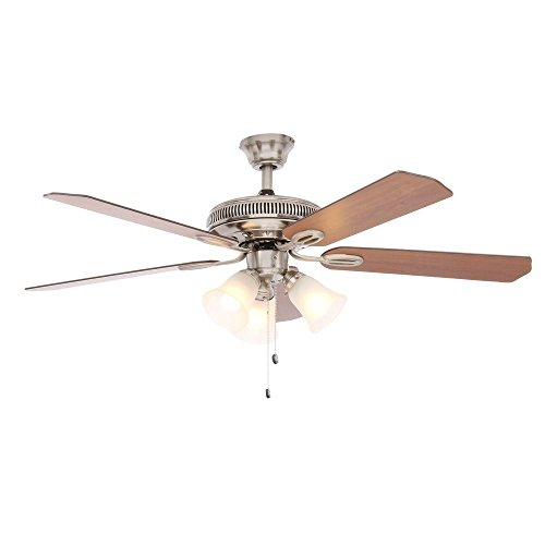 Hampton Bay Brushed Ceiling Fan (Hampton Bay Glendale 52 in. Brushed Nickel Ceiling Fan - AG524-BN)