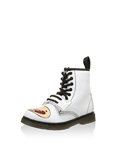 Dr. Martens Unisex-Kinder A. Time Lace Boot White Softy Stiefel, Weiß Weiß