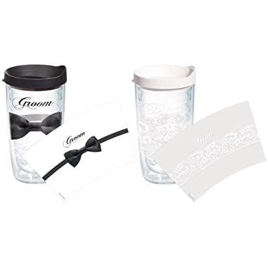 Tervis  Bride Groom  Assorted Wrapped Tumbler, 16-Ounce, 2-Pack
