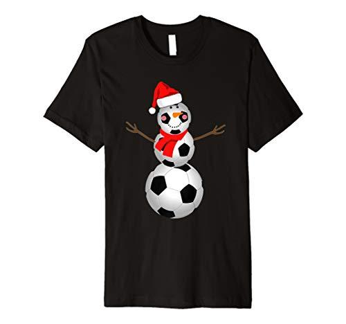 Soccer Snowman Shirt Christmas Snow Santa Hat Scarf