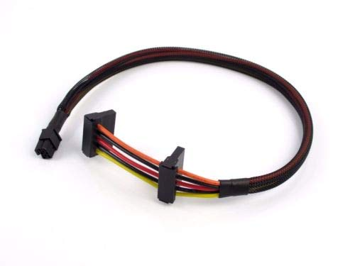GinTai Dell Inspiron 3653 3650 HDD sata Power Cable, Works with DELL X9FV3 HDD Caddy