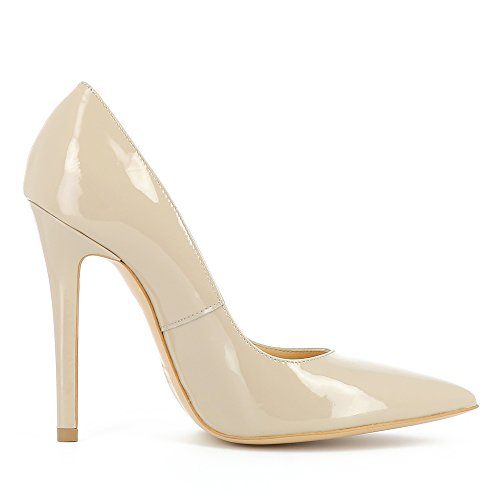 Verni Beige Escarpins Evita Femme Cuir Lisa Shoes TWYqOX