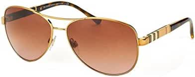 Burberry Unisex 0BE3080 Gold/Brown Gradient Sunglasses