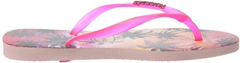 Havaianas Slim Paisage, Chanclas, Mujer Multicolor (Pearl Pink 6615)