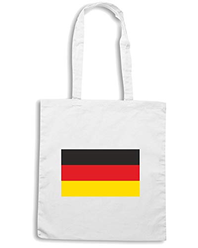 Speed Shirt Borsa Bianca Shopper TM0193 FLAG GERMANY rrgHqRp1