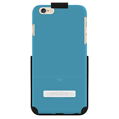 Seidio Innocase Surface Case - Seidio SURFACE Case with Metal Kickstand and Holster Combo for Apple iPhone 6 Plus - Retail Packaging - Electric Blue