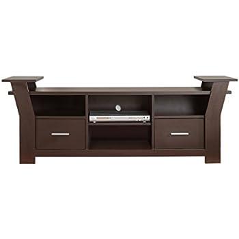 Iohomes torena multi storage tv stand walnut for Furniture of america torena