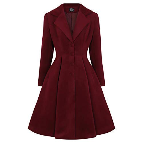 Vintage Coats & Jackets | Retro Coats and Jackets Hearts & Roses London Lauren Vintage 1950s Retro Statement Swing Coat £84.99 AT vintagedancer.com