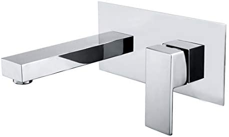 Wall Mount Bathroom Faucets, Vessel Sink Faucet Chrome Solid Brass Rough in Valve Included, SUMERAIN