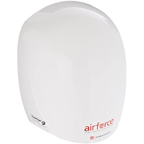World Dryer J 974 Airforce Hi Speed Energy Efficient Automatic Hand Dryer With Aluminum White Cover 110 120V