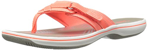 Clarks Women's Breeze Sea Flip-Flop - New Coral Synthetic...