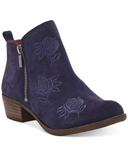 Lucky Brand Women's Basel Embroidery Booties Moroccan Blue S