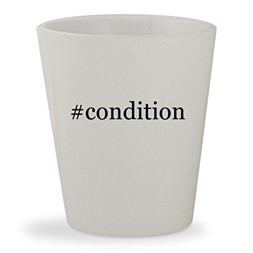 #condition - White Hashtag Ceramic 1.5oz Shot - Condition Fox The Sunglasses