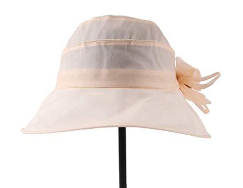 Señora Beige Mora Seda Tamaño Color Aire Un De Aleros La Sol Sombrero Verano Al Grande Libre Los Plegable Del Playa 100 BU4Sww