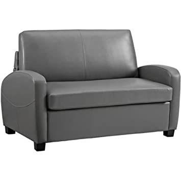 Amazon Com Folding Sofa Bed Couch Futon Made Of Faux Leather