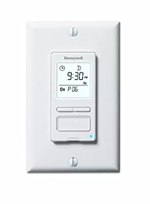 Honeywell RPLS540A ECONOSwitch Programmable Timer Switch, White