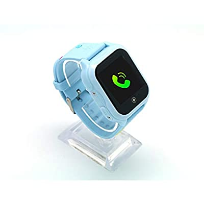 Kids Cellphone Smart Watch Children's Birthday Gift GPS and Waterproof Smart Watches Hd Touch Screen LBS with WiFi and SOS Camera Game Watch Boys Girls Learning Watch Toys(Blue)