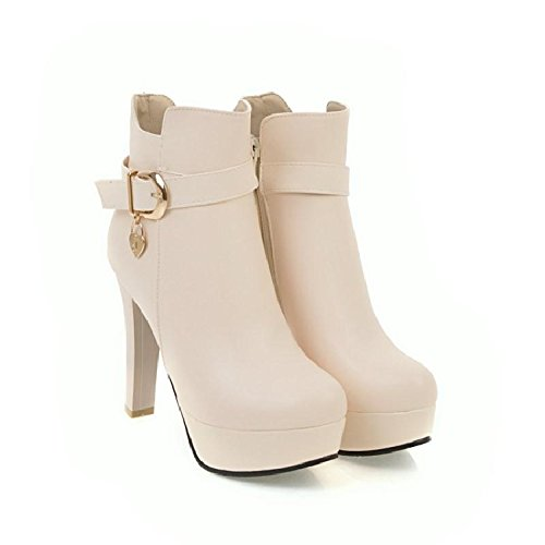 E Beige Breve Britanniche Gli Autunno Primavera KHSKX Gli Stivali Heeled Shoes Donne Stivali Martin Stivali Stivali High Le FRTwYqC