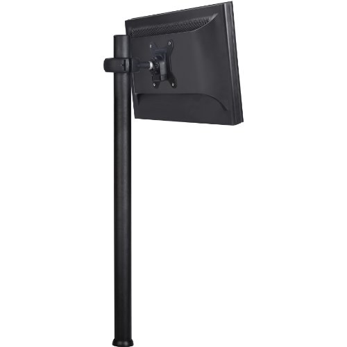 Atdec SD-DP-750 Spacedec Donut Pole Mount with Quick Release Mechanism and 75x75/100x100mm VESA Support, 29.5-Inch, Black - Monitor Floor Stand