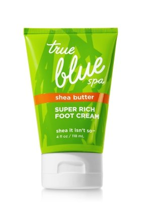 Bath and Body Works True Blue Spa Shea Butter Super Rich Foot Cream 4 Ounce Traveler by Bath & Body Works