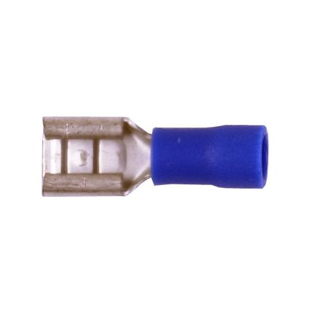 """QTY 50 12//10 FULLY INSULATED .250/"""" FEMALE SPADE CRIMP CONNECTOR TERMINAL NEW"""