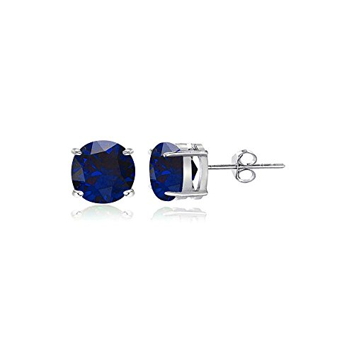 4mm Round Stud Earrings - 8