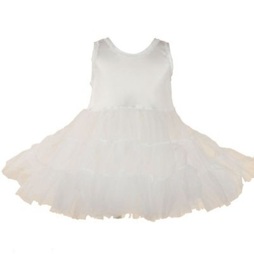 Infant Baby Clothes WHITE Flower Girl PAGEANT PETTICOAT Bouffant Slip 18M