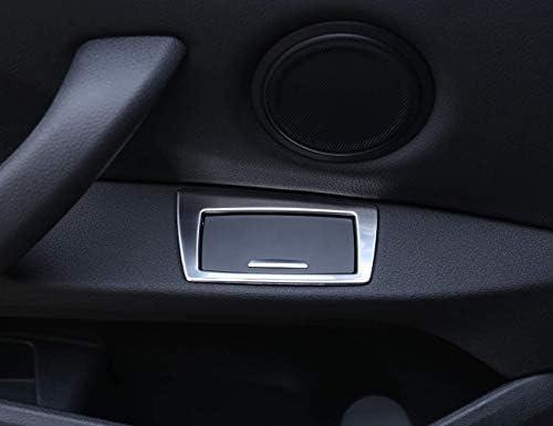 ステンレススチール 車 ドア アームレスト 灰皿 タバコ ボックス カバートリム 2個 Autozone